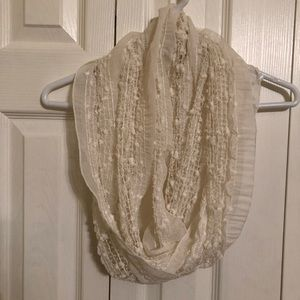 Off white colored Infinity Scarf